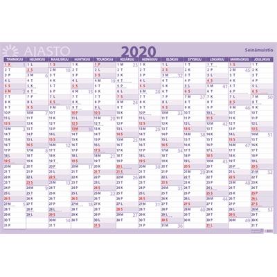 Seinämuistio 2020 taulukkokalenteri - Ajasto