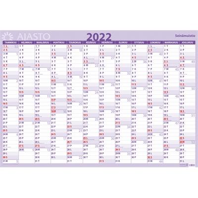 Seinämuistio  2022 seinäkalenteri - Ajasto