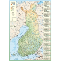 Karttakalenteri 2019 seinäkalenteri