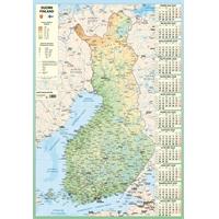 Karttakalenteri 2020 seinäkalenteri - Ajasto