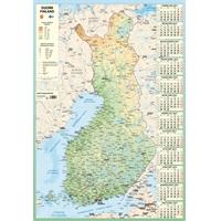 Karttakalenteri 2021 seinäkalenteri - Ajasto