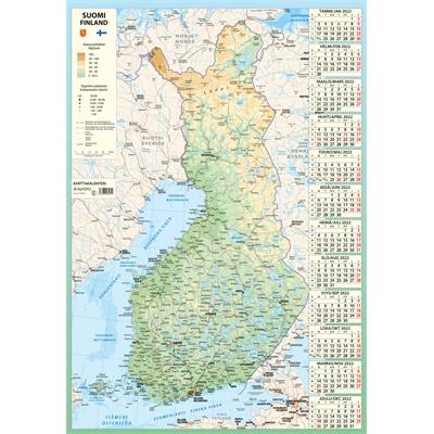 Karttakalenteri  2022 seinäkalenteri - Ajasto