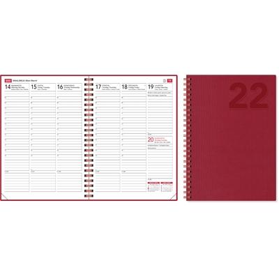 EkoViikkomuistio punainen 2022 pöytäkalenteri - CC Kalenterit