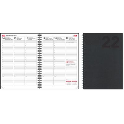 EkoViikkomuistio musta 2022 pöytäkalenteri - CC Kalenterit
