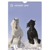 Hevoset 2019 seinäkalenteri