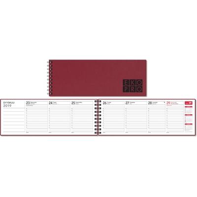 EkoPro 2018 punainen pöytäkalenteri