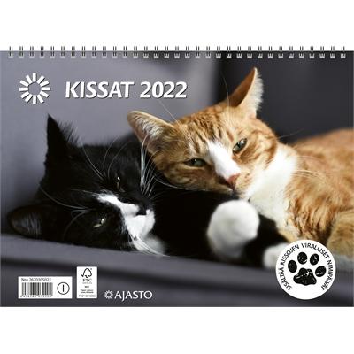 Kissat 2022 seinäkalenteri - Ajasto