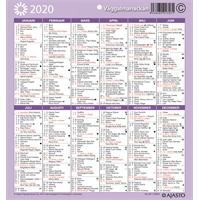 Seinäalmanakka/Väggalmanackan 2020 seinäkalenteri - Ajasto