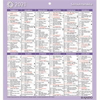 Seinäalmanakka/Väggalmanackan 2021 seinäkalenteri - Ajasto