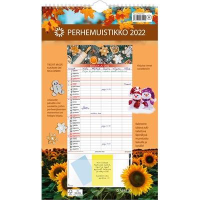 Perhemuistikko  2022 seinäkalenteri - Ajasto