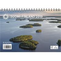 Suomi A5 2019 seinäkalenteri
