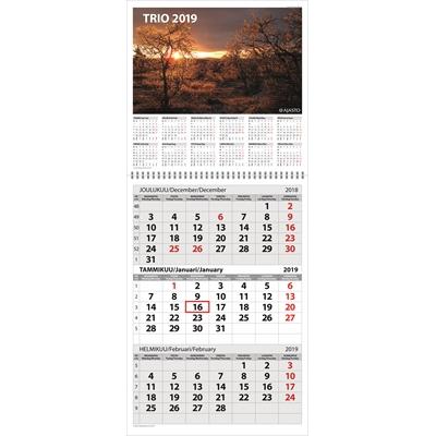 Trio 2018 seinäkalenteri