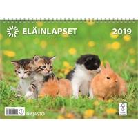 Eläinlapset 2019 seinäkalenteri