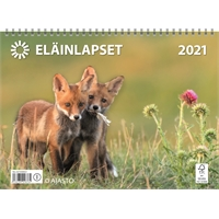 Eläinlapset 2021 seinäkalenteri - Ajasto