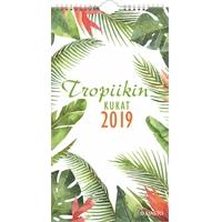 Tropiikin kukat 2019 seinäkalenteri