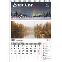 Tripla 2021 seinäkalenteri - Ajasto