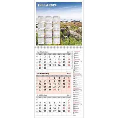 Tripla 2018 seinäkalenteri