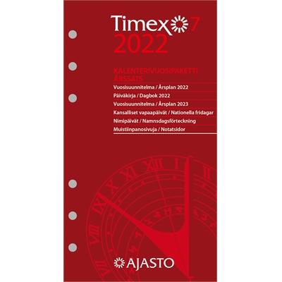 Timex 7 -vuosipaketti 2022 taskukalenteri - Ajasto