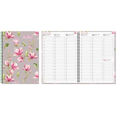 Aikamuistio 2020 wiresidottu magnolia pöytäkalenteri - CC Kalenteripalvelu