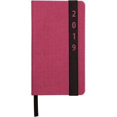 Kompagnon 2018 vaaleanpunainen taskukalenteri